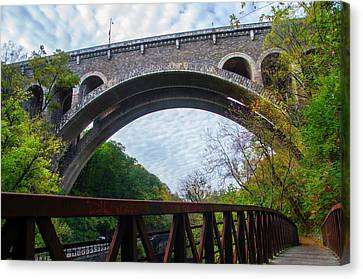 Wissahickon Canvas Print - The Henry Avenue Bridge by Bill Cannon