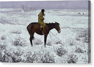 The Herd Boy 1905  Canvas Print by Frederic Remington