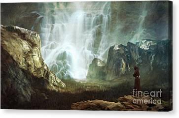 The Hermit By Sarah Kirk Canvas Print by Sarah Kirk