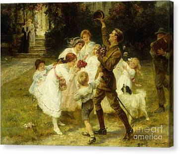 The Hero Of The Hour  Canvas Print by Frederick Morgan
