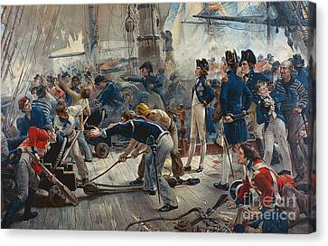 The Hero Of Trafalgar Canvas Print by William Heysham Overend
