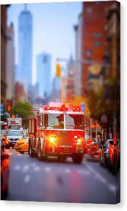 The Heroes Of New York City Canvas Print by Mark Andrew Thomas