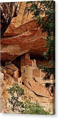 Pueblo Architecture Canvas Print - The Hidden House by Jim Chamberlain