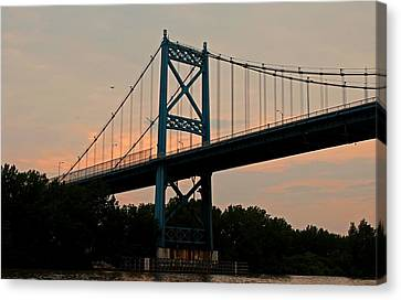 The High Level Aka Anthony Wayne Bridge I Canvas Print by Michiale Schneider
