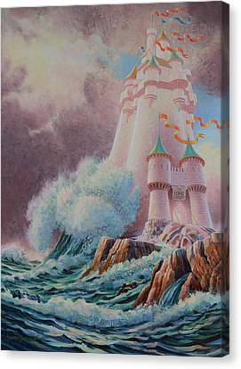 Storm Canvas Print - The High Tower by Graham Braddock