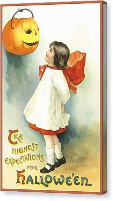 The Highest Expectations For Halloween Canvas Print