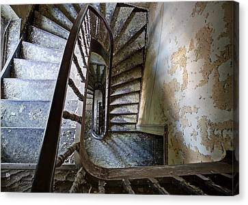 the highest floor looking down - Urbex Canvas Print