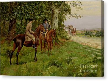 Robbers Canvas Print - The Highwaymen by George Derville Rowlandson