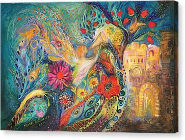 The Hills Of Jaffo Canvas Print by Elena Kotliarker
