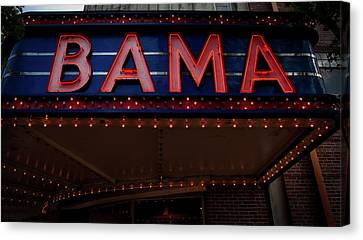 The Historic Bama Theatre Canvas Print by Mountain Dreams