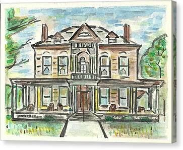 The Historic Dayton House Canvas Print by Matt Gaudian