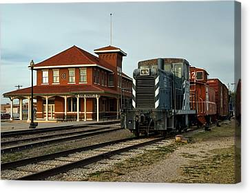 The Historic Santa Fe Railroad Station Canvas Print by Mountain Dreams
