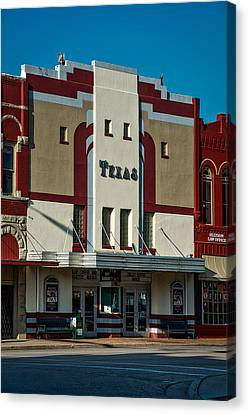 Overhang Canvas Print - The Historic Texas Theatre by Mountain Dreams