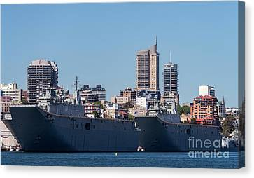 The H M A S Adelaide And H M A S Canberra Of The Royal Australian Navy Canvas Print