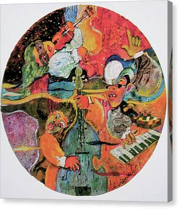 The Holland Jazz Trio Canvas Print by Lee Ransaw