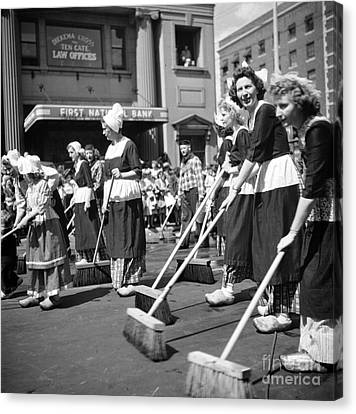 The Holland Michigan Tulip Parade, 1953. Canvas Print by The Harrington Collection