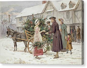 The Holly Cart Canvas Print