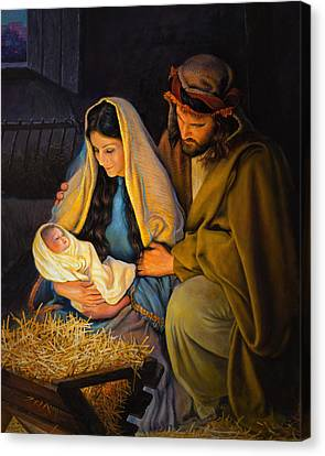 The Holy Family Canvas Print by Greg Olsen