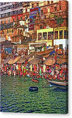 The Holy Ganges Canvas Print by Steve Harrington