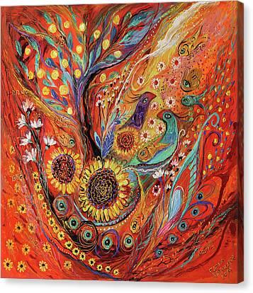 The Holy Land Autumn Canvas Print by Elena Kotliarker