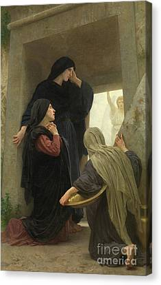 The Holy Women At The Tomb Of Christ Canvas Print by William-Adolphe Bouguereau