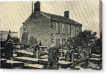 The Home Of Charlotte Bronte,1816-1855 Canvas Print