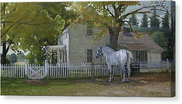 Rain Barrel Canvas Print - The Home Place by Michael Wilson