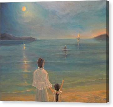 Canvas Print featuring the painting The Homecoming by Donna Tucker