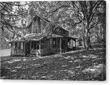 The Homestead Bw Canvas Print by Phyllis Taylor