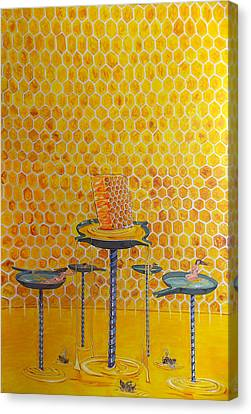 The Honey Of Lives Canvas Print by Lazaro Hurtado
