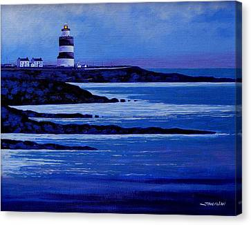 Poster Board Canvas Print - The Hook Lighthouse The Hook Peninsula County Wexford Ireland by John  Nolan