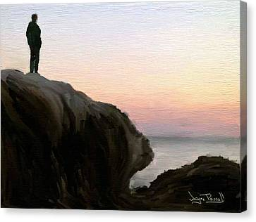 Canvas Print featuring the painting The Horizon by Wayne Pascall