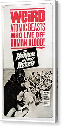 The Horror Of Party Beach, 1964 Canvas Print by Everett