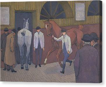 Camden Town Group Canvas Print - The Horse Mart by Robert Bevan