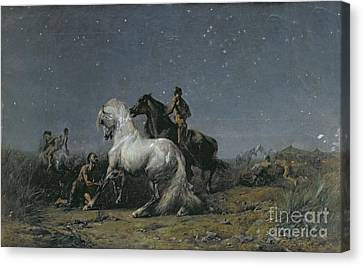 The Horse Thieves Canvas Print by Ferdinand Victor Eugene Delacroix