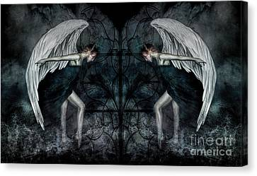 The Hosts Of Seraphim Canvas Print by Spokenin RED