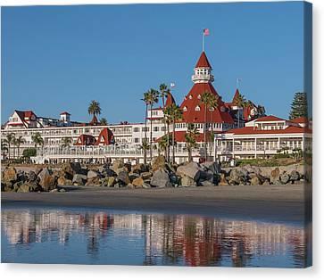 Island Stays Canvas Print - The Hotel Del Coronado by Robert Bellomy