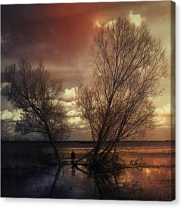 The Hours Of Awakening Canvas Print by Art of Invi