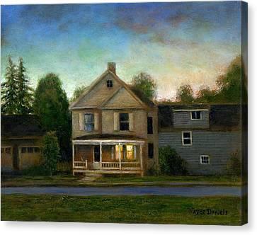 The House Next Door Canvas Print by Wayne Daniels