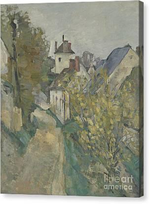 The House Of Dr Gachet In Auvers Sur Oise Canvas Print by Paul Cezanne