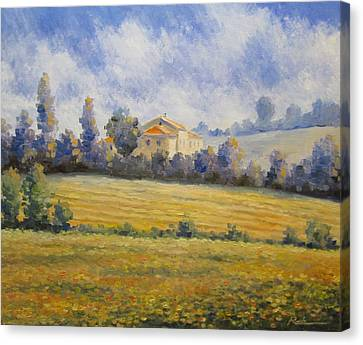 The House On The Hills Canvas Print by Oleh Rak