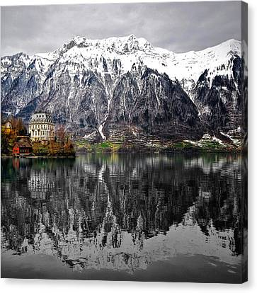 The House On The Lake Canvas Print by Philippe Sainte-Laudy