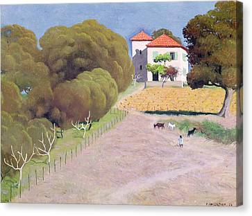 Red Roof Canvas Print - The House With The Red Roof by Felix Edouard Vallotton