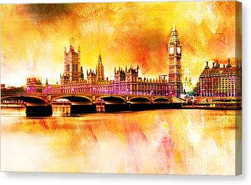The Houses Of Parliament Canvas Print by Gull G