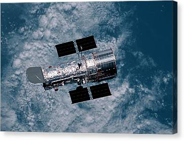 The Hubble Space Telescope Canvas Print by Nasa