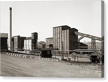 The Huber Colliery Ashley Pennsylvania 1953 Canvas Print