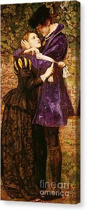 Romance Renaissance Canvas Print - The Huguenot, 1852 by John Everett Millais