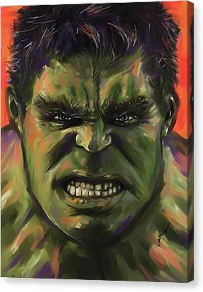 The Hulk Canvas Print by Julianne Black