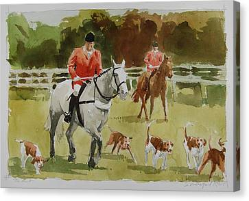Radnor Canvas Print - The Hunt by Stephen Rutherford