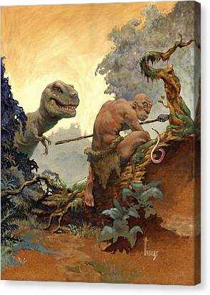 The Hunter Canvas Print by Richard Hescox